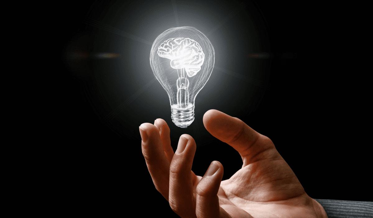 Illustration of light's affect on the brain